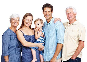 image d'une famille, clinique dentaire ART de laval